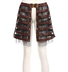 WF Steampunk Cage Skirt with Crinoline & Adjustable Buckle Waist  Brown & Black