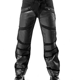 QOD Metal Plate Look Applique Pants