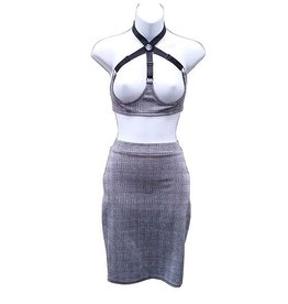 HOS Gray Plaid Pencil Skirt