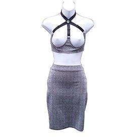 HOS Grey Plaid Pencil Skirt