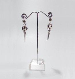 PRG Diamante And Bird Skull Earrings