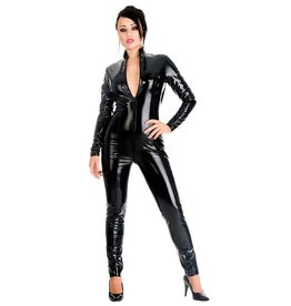 HON 2 Way Front Zip PVC Catsuit