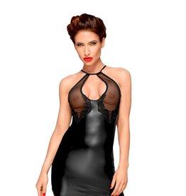 NH Power Wetlook Halter Dress with Sheer Bust