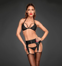 NH Power Wetlook Garter with Chequered Detail