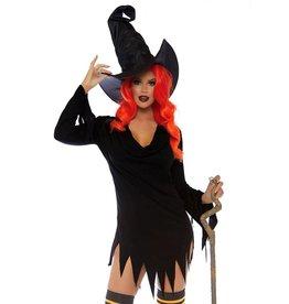 LGA Cowl Neck Tattered Witch Dress