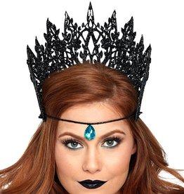 LGA Glitter Die Cut Crown with Jewel Accent