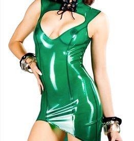 PMI Asymmetrical Latex Amazon Dress