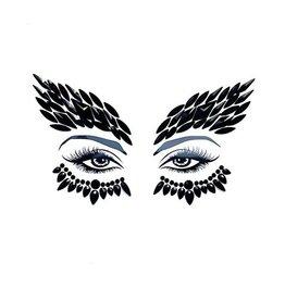 NN Night Hawk Black Crystal Face Sticker