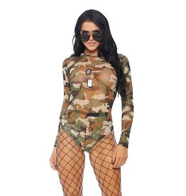 FOR Camouflage Mesh Bodysuit