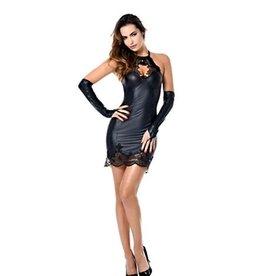 PC Jazlyn Lace Trim Wetlook Dress