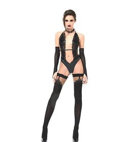 PC Camille Lace And Wetlook Bodysuit