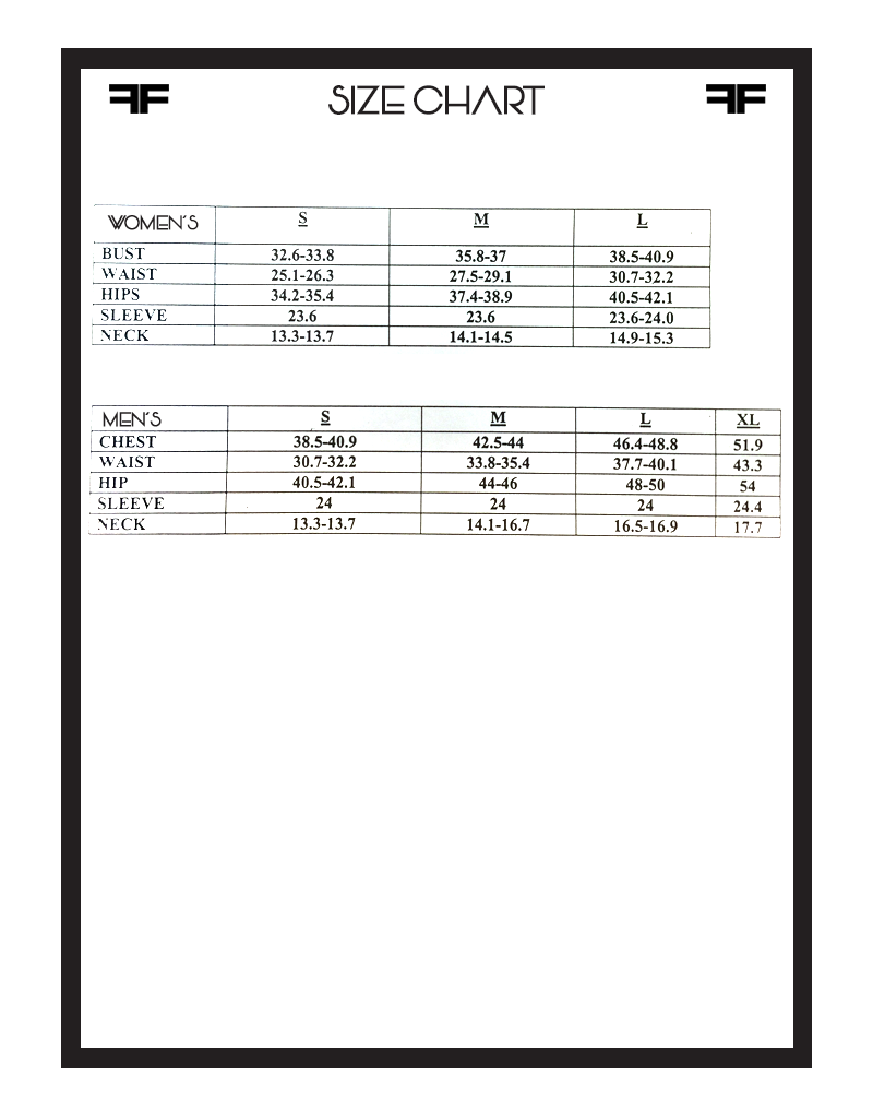 LAT Size chart