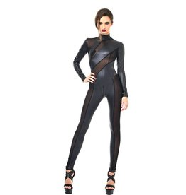 PC Zia Wetlook And Mesh Catsuit