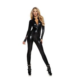 FOR Metallic Zip Front Catsuit