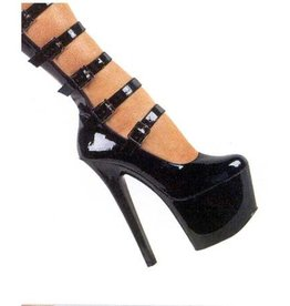 PLS Five Strap Shoe Platform 7 Inch Heel