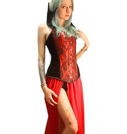 DC Vamp Overbust Corset With Detachable Collar