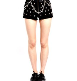 TRP Black Stud And Chain Shorts