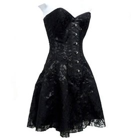 KO Lace Overlay Corset Dress