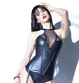 COQ High Neck Bustier with Removable Garters