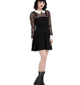 SIL Wednesday Apron Dress With Fishnet Sleeves