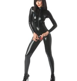 FF Secrets Latex Catsuit With Slit Crotch & Back Zip