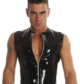 HON Zip Front Sleeveless Latex T-Shirt