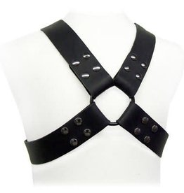 "KO Leather Chest Harness with 2"" Straps"