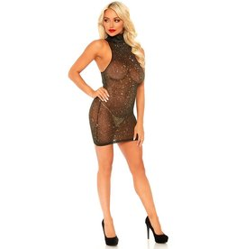 LGA Lurex Shimmer High Neck Dress