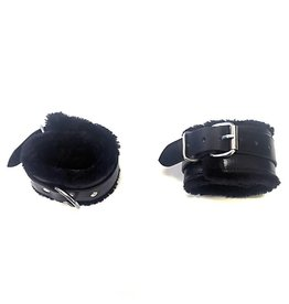 ETC Fur Lined Leather Wrist Restraints