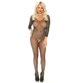 LGA Crystalized Seamless Fishnet Bodystocking O/S