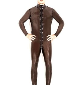 HON Zip Thru Semi Transparent Latex Catsuit
