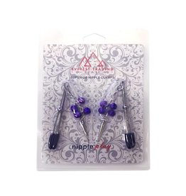 ETC Tweezer Nipple Clamps with Spikes & Bells