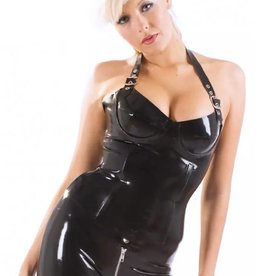 HON Halter Basque Latex Top