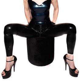 FF Matrix Latex Leggings Zip No Feet