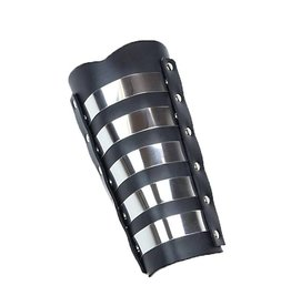 FPL Leather Arm Gauntlet With  Metal Strips