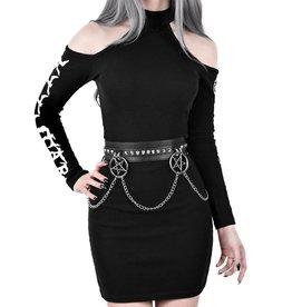 KS Curses Chain Belt Vegan Leather  O/S
