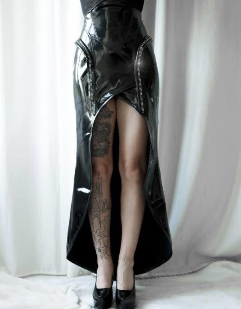 TW Galactica PVC Skirt With Rhinestone Trim