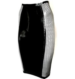 VEX Hourglass Latex Fishnet Skirt