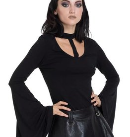 SIL Mystic Bell Sleeve Top With Cut Out Neckline
