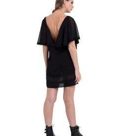 SIL Drape Sleeve Dress