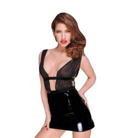 NH Mini Dress with PVC Skirt & Chiffon Top