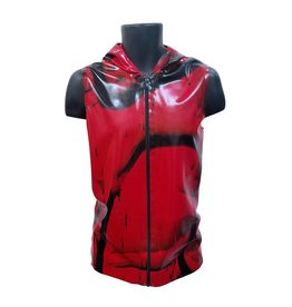 PMI Marbled Latex Hooded Vest With Contrast Zip