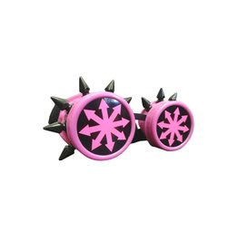 SOL Chaos Design UV Pink Cyber Goggles with Spikes