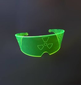 SOL Florescent Green UV Rave Visor with Gears