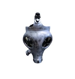SOL Antique Silver Gas Mask with Claws