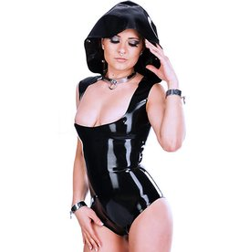 LAT Ladies Latex Bodysuit With Hood