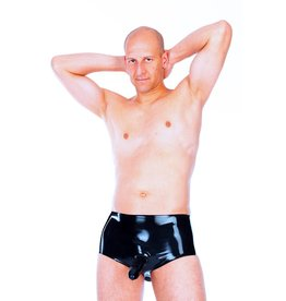 LAT Latex Briefs With Hollow & Anal Penis