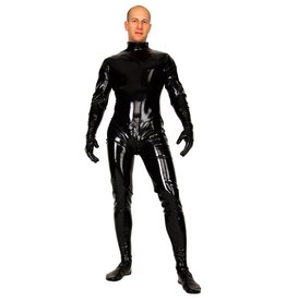 LAT Latex Catsuit With Back Zip And Gloves And Feet