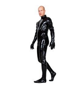 LAT Latex Catsuit With Feet And Gloves