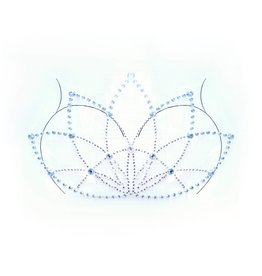 LGA Lotus Adhesive Body Jewel Sticker  Clear